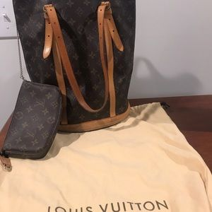 Authentic Louis Vuitton Large Bucket
